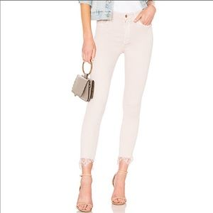 MOTHER High Waist Looker Dagger Blush Ankle Jeans